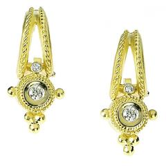 Stambolian Diamond Gold Earrings