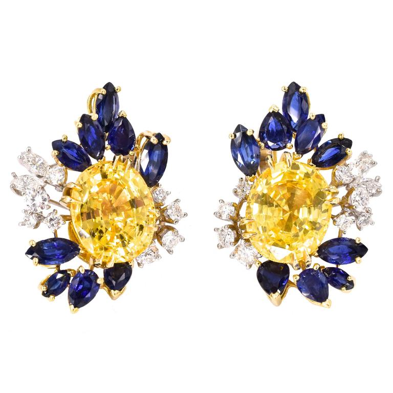 Meister, Yellow Sapphire Gold Earrings