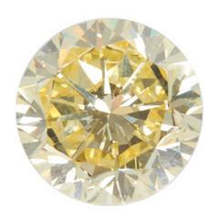 Natural Fancy Intense Yellow Diamond 22.77 Carat Platinum Ring