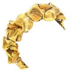 Gilbert Albert Modernist Gold Bracelet