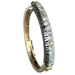 Late 19th Century Diamond and Gold Bangle
