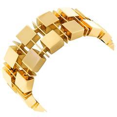 Spectacular Modernist Gold Bracelet