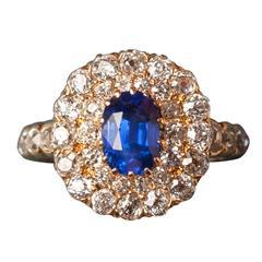 Sapphire Diamond Gold Ring