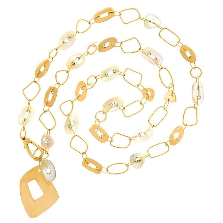 Mattioli Mother-of-Pearl Rose Gold Puzzle Necklace For Sale