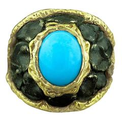 Victor Velyan Turquoise Gold Ring