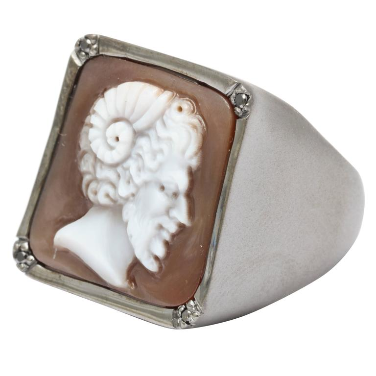 """Amedeo """"Satyr"""" Cameo Ring"""