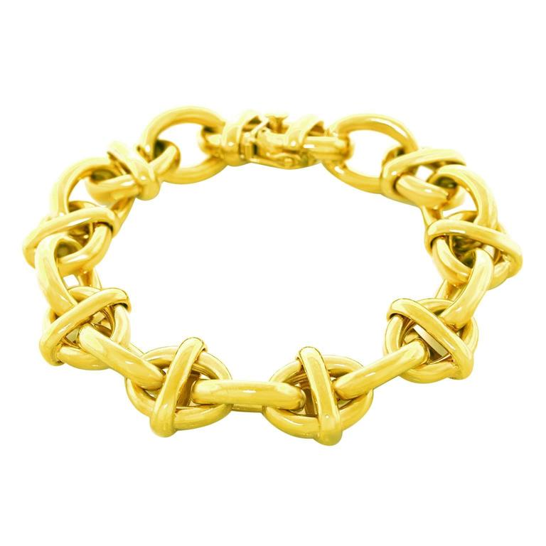 Tiffany & Co. Fabulous Chunky Gold Anchor Link Bracelet