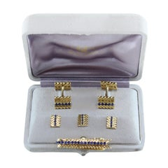 1950s Van Cleef & Arpels Sapphire Gold Dress Set