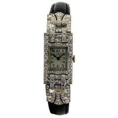 Leroy Ladies Platinum Art Deco Articulated Dress Watch