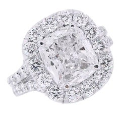 5 Carat Cushion Cut Diamond Ring