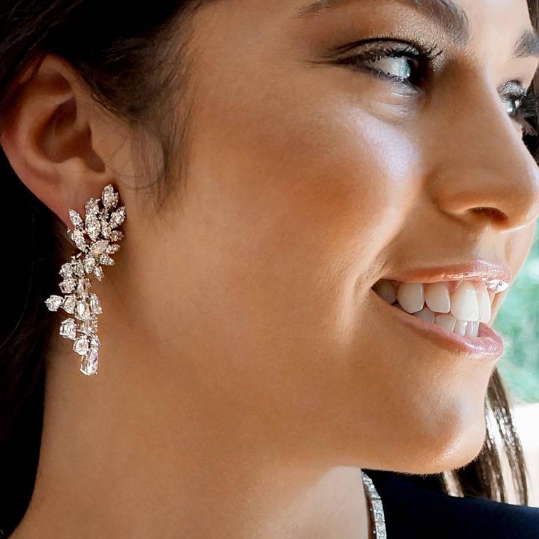 "Incredible Diamond Platinum ""Day to Gala"" Earrings 7"