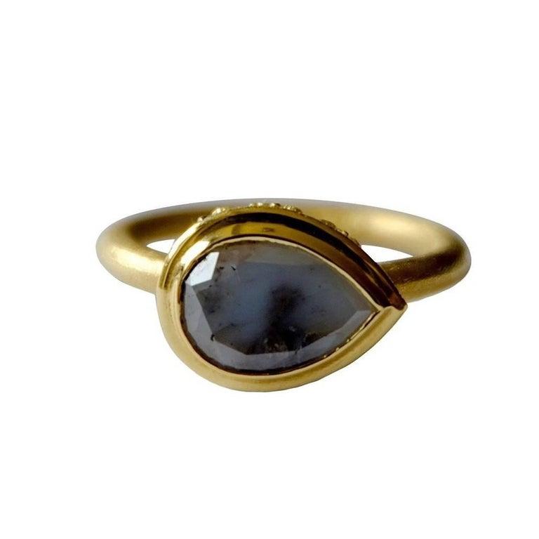 Luca Jouel Milky Curio Rose Cut Diamond Gold Ring
