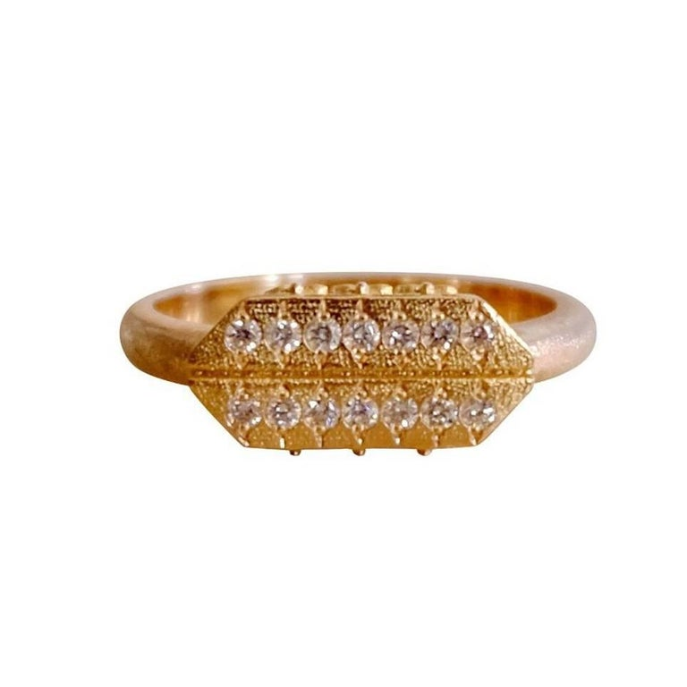 Luca Jouel Diamond Gold Cross Ring