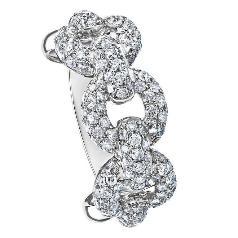 Interlinked Diamond Band Ring