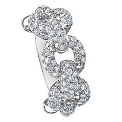 Interlinked Diamond Band Ring
