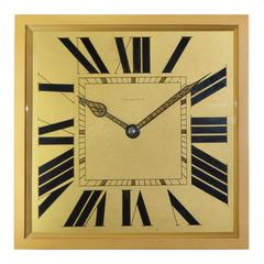 1920s Tiffany & Co. Brass and Gilt Art Deco Clock