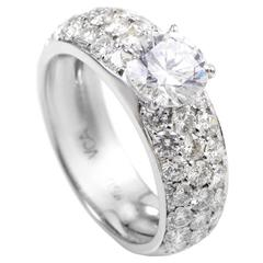 Van Cleef & Arpels Diamond Gold Engagement Ring