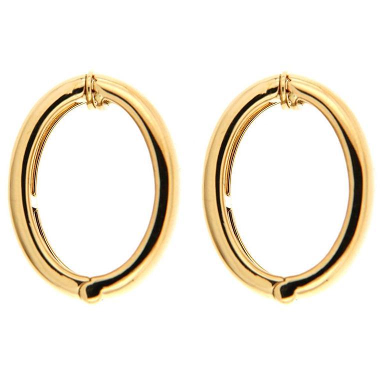 Valentin Magro Gold Hoop Clip On Earrings