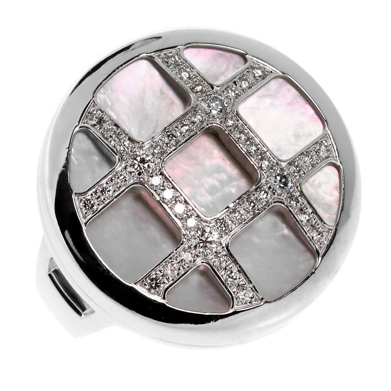 Cartier Pasha Mother-of-Pearl Diamond Gold Ring