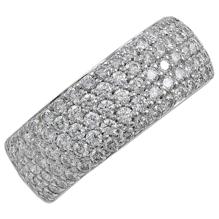Cartier Diamond Gold Wide Ring