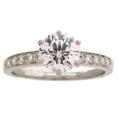 Tiffany & Co. 1.50 Carat Diamond Platinum Ring