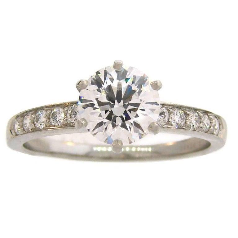 Tiffany & Co. 1.50 Carat Diamond Platinum Ring 1