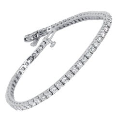 6.00 Carat Diamonds Gold Tennis Bracelet
