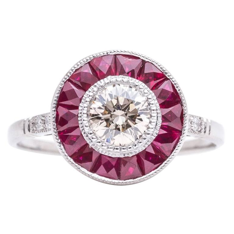 ravishing ruby and chagne target ring in