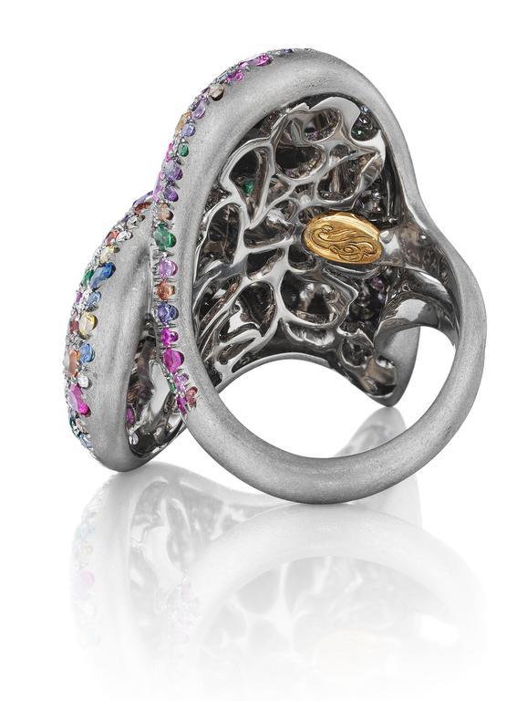 Naomi Sarna Confetti Heart Ring For Sale 1