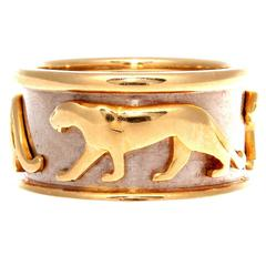 Cartier Walking Panthere Gold Ring