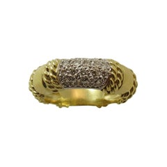 Cassis Pave Diamond Gold Band Ring