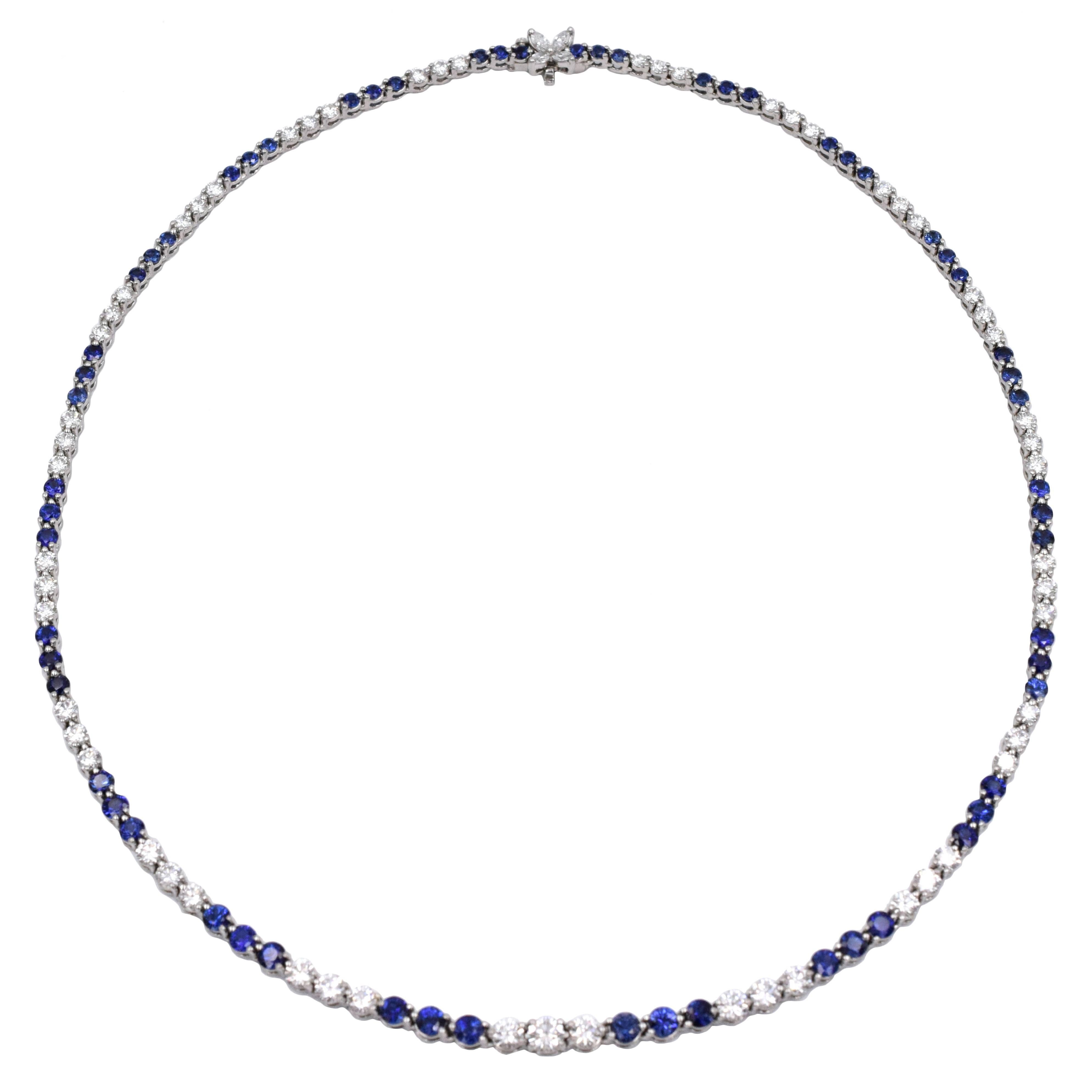 Tiffany & Co Diamond and Sapphire Necklace