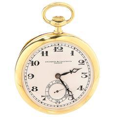 Vacheron & Constantin Yellow Gold Open Face Pocket Watch circa 1900