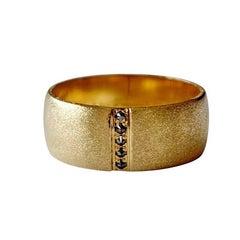 Luca Jouel Black Diamond Gold Men's Ring