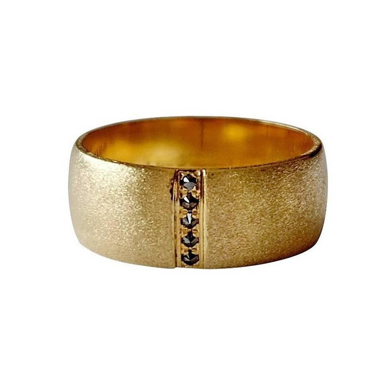 Luca Jouel Black Diamond Gold Men's Ring
