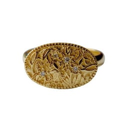 Luca Jouel Diamond and Gold Floral Ring
