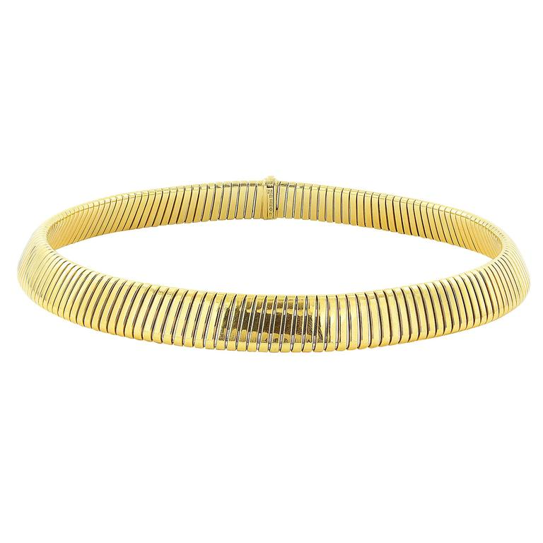 Bulgari Gold Collar Necklace