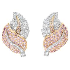 Graff Pink Diamond Gold Earrings