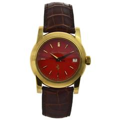 Girard Perregaux Yellow Gold Red Ferrari Dial Calendar Automatic Limited Edition