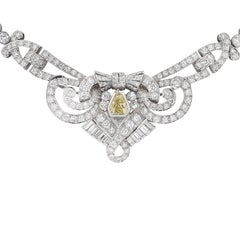 12 Carat Diamond Platinum Necklace