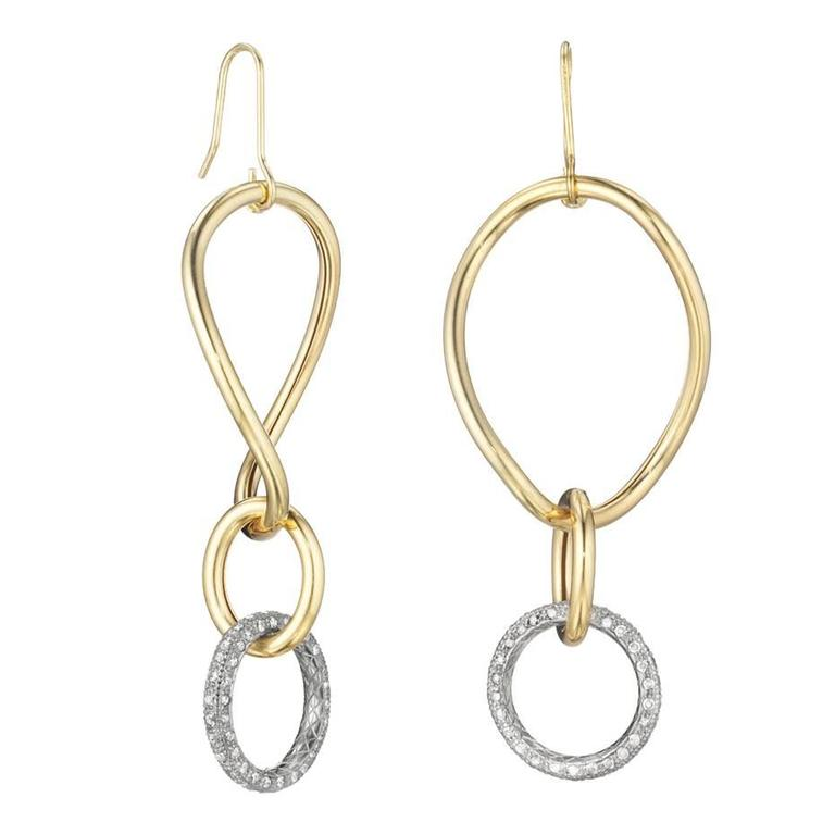 Faraone Mennella Stella Diamond Gold Earrings