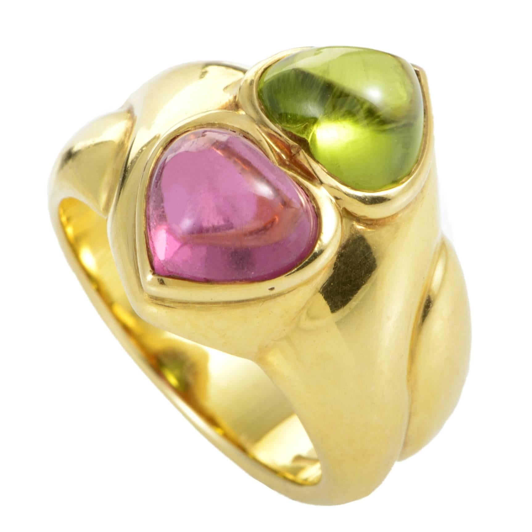 Bulgari Naturalia Diamond and Ruby Gold Fish Ring at 1stdibs