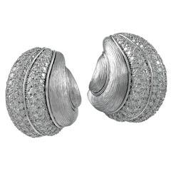 Henry Dunay Diamond Platinum Earclips