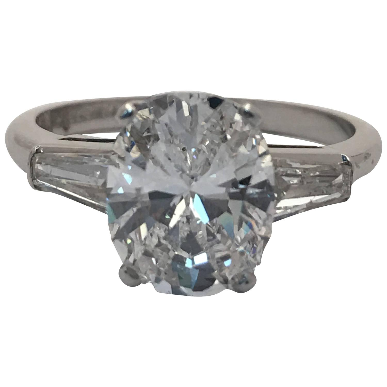 Magnificent 2 00 Carat GIA Cert Cushion Cut Diamond Platinum Engagement Ring