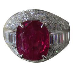 Bulgari Magnificent Ruby Diamond Platinum Trombino Ring