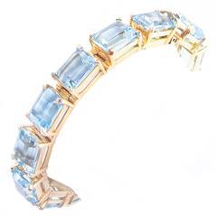 Krause 70 Carat Aquamarine Gold Bracelet