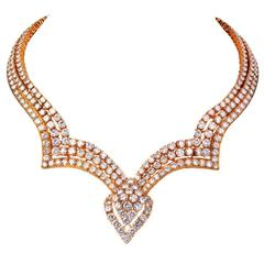 M. Gerard Exceptional Diamond Gold Necklace