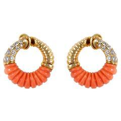 Van Cleef & Arpels Coral Earrings