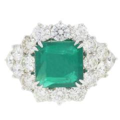 Luise Diamond Emerald Gold Oz Ring