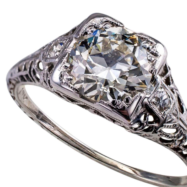 Carat art deco engagement ring for sale at 1stdibs for 26 carat diamond ring